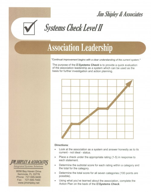 SCAL - Association Leadership Systems Check II Cover Image