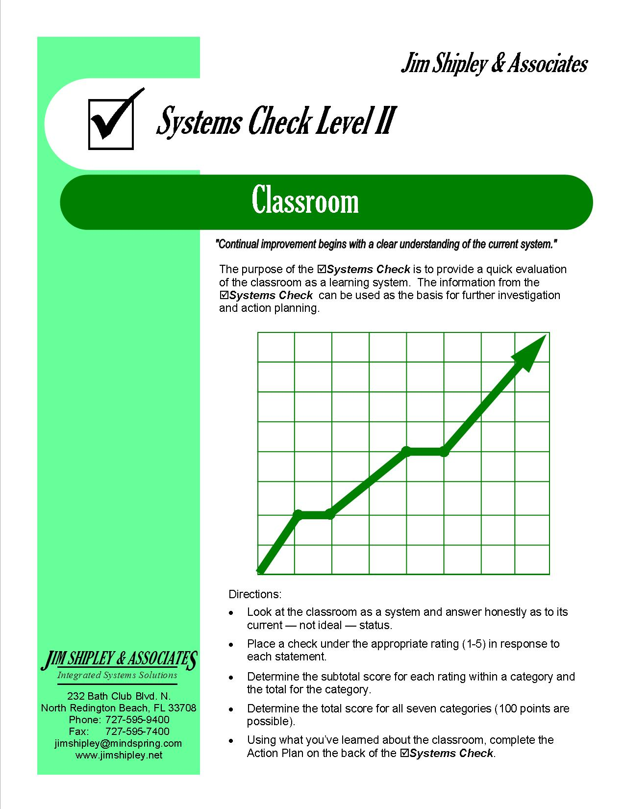 SCC - Classroom Systems Check Level II Cover Image