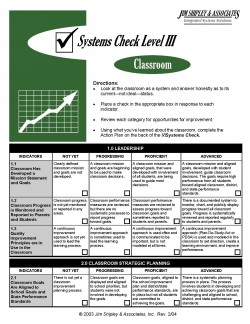 SCC3 - Classroom Systems Check Level III Cover Image