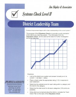 SCDLT - District Leadership Team Systems Check II Cover Image