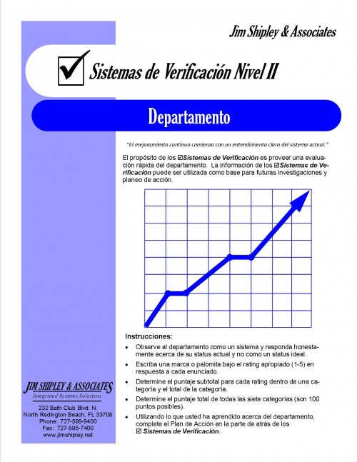 SCDept-Spanish - Department System Check II (Spanish) Cover Image