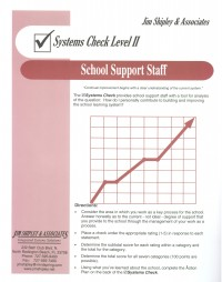 SCSSS - School Support Staff Systems Check II Cover Image